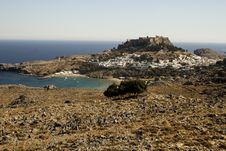 Free The Acropolis Of Lindos Royalty Free Stock Photo - 34382875