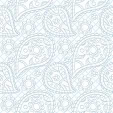 Free Seamless Light Paisley Texture Royalty Free Stock Image - 34383016