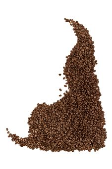 Coffe Beans Pattern Stock Images