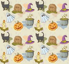 Free Halloween Pattern Stock Photography - 34390272