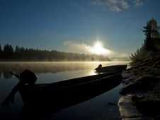 Free Sunrise At The Pechora River Stock Images - 34390634