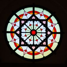 Free Circular Stained Glass Window. Royalty Free Stock Images - 34396169