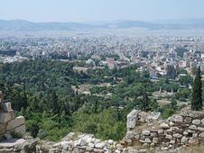 Free View From The Acropolis, Athens, Greece Royalty Free Stock Images - 34398769