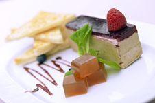 Free Tiramisu With Raspberries Royalty Free Stock Photos - 34399598