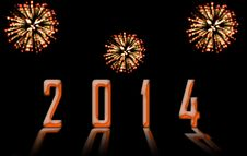 Free Happy New Year 2014 Stock Photography - 34399982