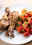 Free Grilled Chicken Legs With Vegetable Stock Images - 34399734