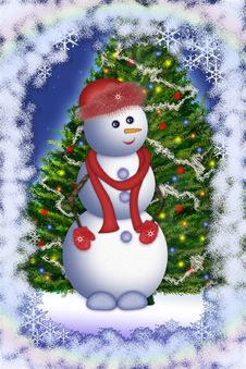 Free Snowman Stock Photo - 3440990