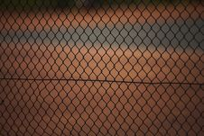 Free Tennis Court Fence Royalty Free Stock Photography - 3441097