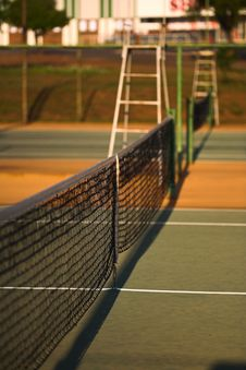 Tennis Court Net Stock Images