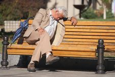 Free Man On Bench Royalty Free Stock Image - 3441476