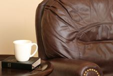 Free Chair With Bible And Mug Stock Images - 3441594