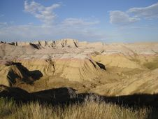 Free Badlands - Yellow Mounds Royalty Free Stock Images - 3441989
