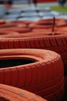 Free Grand Prix Tyre Wall Stock Images - 3442234