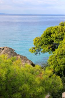 Lovely Coastline In Greece Stock Photo