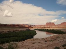 Free Green River In Canyonlands Stock Photo - 3442480