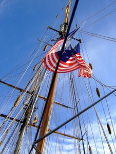 Free Flag On Ship S Mast Royalty Free Stock Images - 3442589