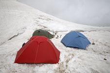 Free Mountain Tents. Stock Photography - 3442662