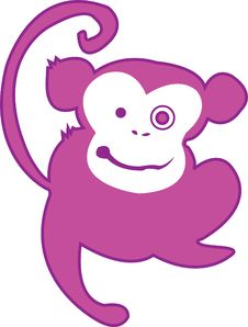 Free Monkey Madness In Pink Stock Photos - 3442743