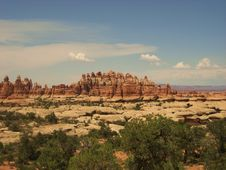 The Needles In Canyonlands Royalty Free Stock Photography
