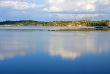 Lovely Coastline In Greece Royalty Free Stock Images