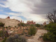 Canyonlands - Doll House Rocks Royalty Free Stock Photos