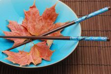 Free Blue Bowl With Chopsticks Stock Photo - 3443530