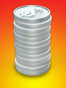 Free Coins 3d Stock Images - 3443964