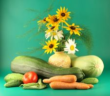Free Still-life With Vegetables Stock Image - 3445051