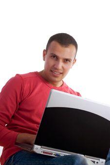 Free Working On Laptop Stock Image - 3445471