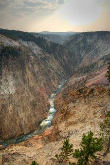 Free Grand Canyon Of Yellowstone Royalty Free Stock Image - 3445586