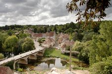Historic French Village Stock Photography