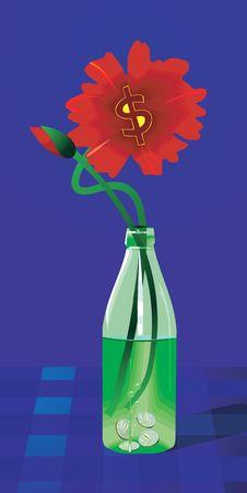 Free Dollar Flower Vase Stock Photos - 3446013