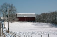 Free Pasture Barn Scene Royalty Free Stock Images - 3446049