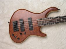 Wood Grain Bass Guitar 2 Royalty Free Stock Photo