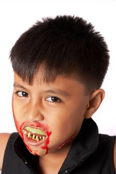 Free Boy With Fangs Stock Images - 3446594