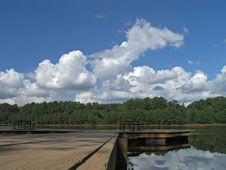 Free Reflective Clouds And Dock 4 Stock Photography - 3446702