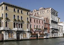 Free Venice, Italy - Water Front Fa Royalty Free Stock Photos - 3446788