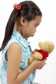 Free Girl With A Teddy Bear Stock Images - 3447774