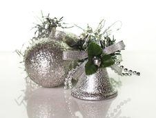 Free Handbell And Silver Balls Royalty Free Stock Photos - 3447848