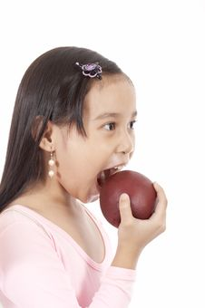 Free Biting An Apple Royalty Free Stock Images - 3447879