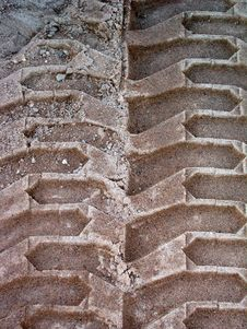 Free Truck Tire Track Impression Stock Photography - 3447962