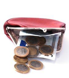 Free Old Wallet And Changes Stock Photography - 3448412