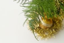 Free Green Branch And A Glass Balls Royalty Free Stock Photo - 3448645
