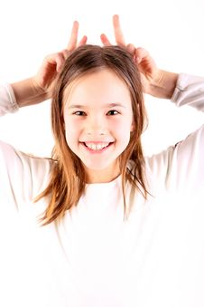Free Girl With Horns Royalty Free Stock Image - 3448986