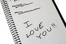 Free I Love You Stock Images - 3449084