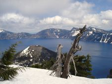 Free Crater Lake Royalty Free Stock Photography - 3449897