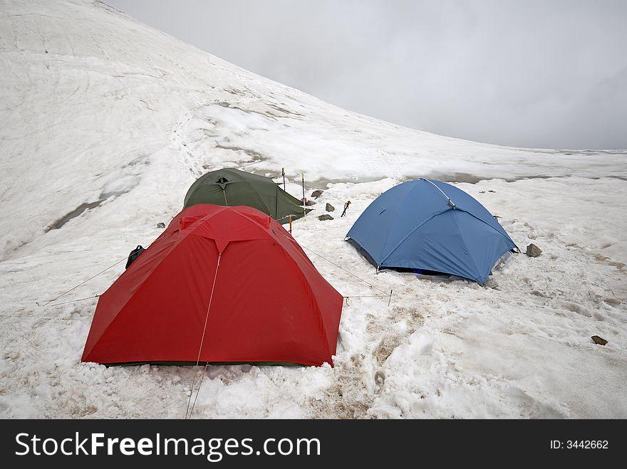 Mountain tents.