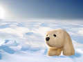 Free Toy Polar Bear Cub In Arctic Stock Photography - 34400102