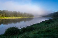 Free Foggy Morning On The River Volga. Stock Photo - 34400080