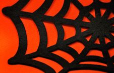 Free Black Spider Web On An Orange Background Royalty Free Stock Photos - 34405008